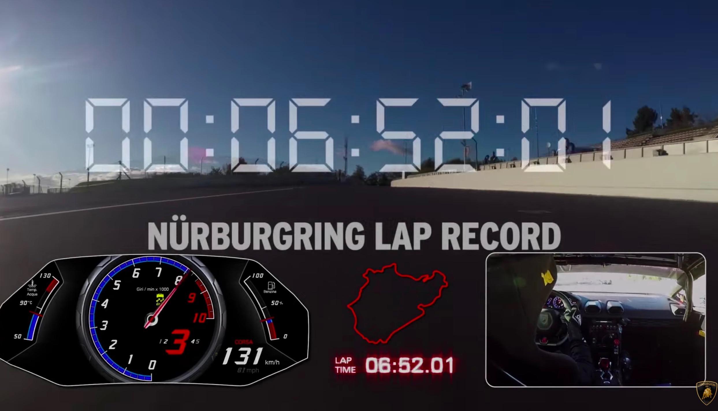 Lamborghini Huracan Performante sets Nurburgring lap record