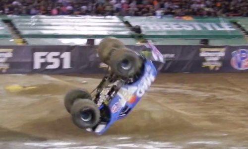 Video: Monster truck performs world first front flip