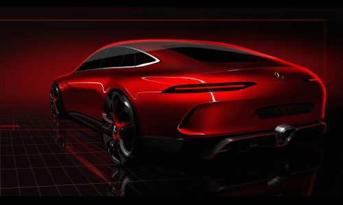 Mercedes-AMG GT four-door coupe concept heading to Geneva