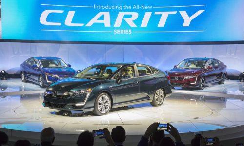 Honda debuts Clarity PHEV & EV variants at NY show