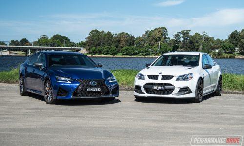 2017 HSV Clubsport LSA vs Lexus GS F: V8 sedan comparison (video)