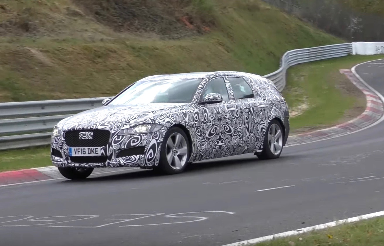New Jaguar XF Sportbrake spotted at Nurburgring (video)