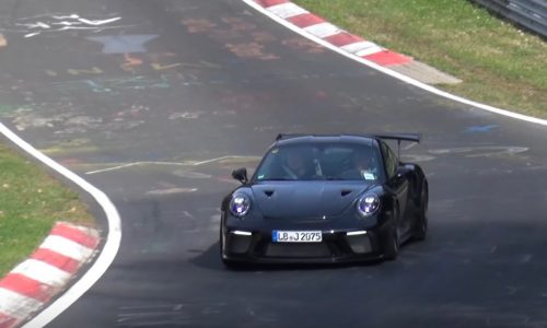 2018 Porsche 911 GT3 RS spotted, to be PDK only? (Video)