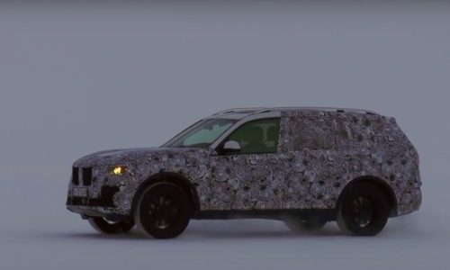 New BMW X7 large SUV prototype spotted testing (video)