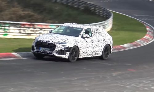 Audi Q8 prototype spotted at Nurburgring, previews sporty flagship (video)