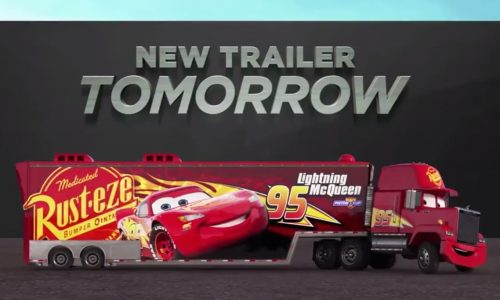 Cars 3 official trailer coming tomorrow, teaser released (video)