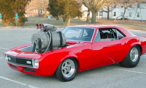 Chevrolet Camaro gets a supercharger from a freight train