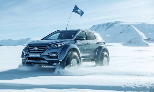 Hyundai takes Santa Fe across Antarctica
