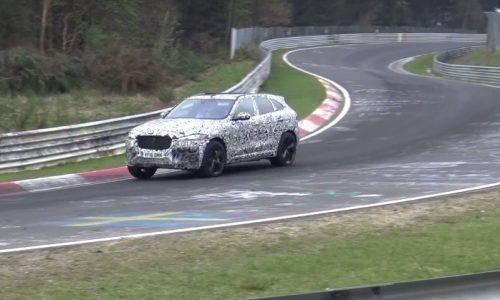 Jaguar F-PACE SVR V8 continues testing at Nurburgring (video)