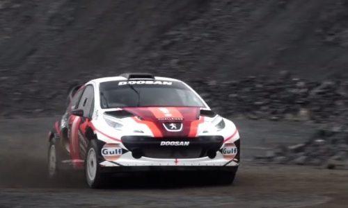 Video: Crazy Peugeot 207 'MC2' WRC car with Renault F2 V6