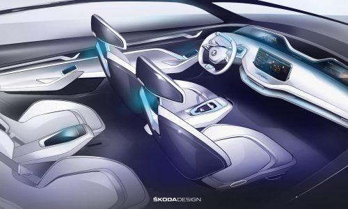Skoda Vision E concept gets innovative cabin, swivel seats
