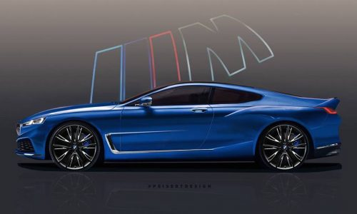 2018 BMW 8 Series rendered, based on official teaser (video)