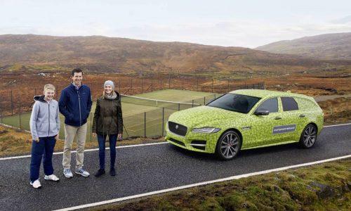 New Jaguar XF Sportbrake drives to world's most remote tennis court