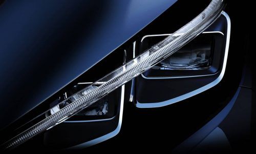 2018 Nissan LEAF previewed with smart new headlight design