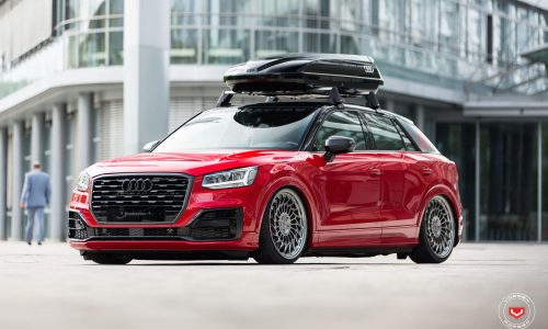 Audi Q2 slammed with Vossen wheels shows potential