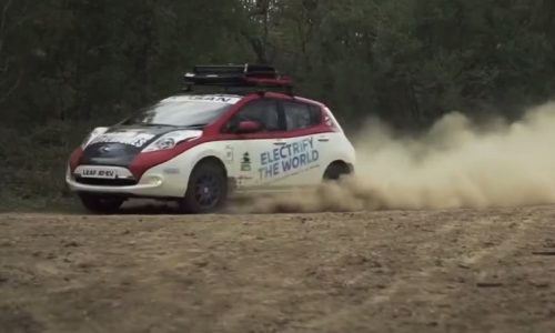 Nissan LEAF AT-EV rally car is a first, shows potential (video)