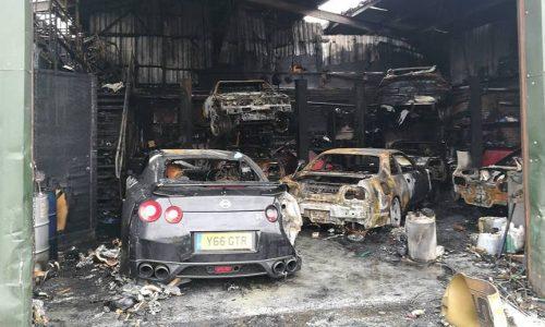Nissan Skyline tuning shop burns down, 7 cars destroyed