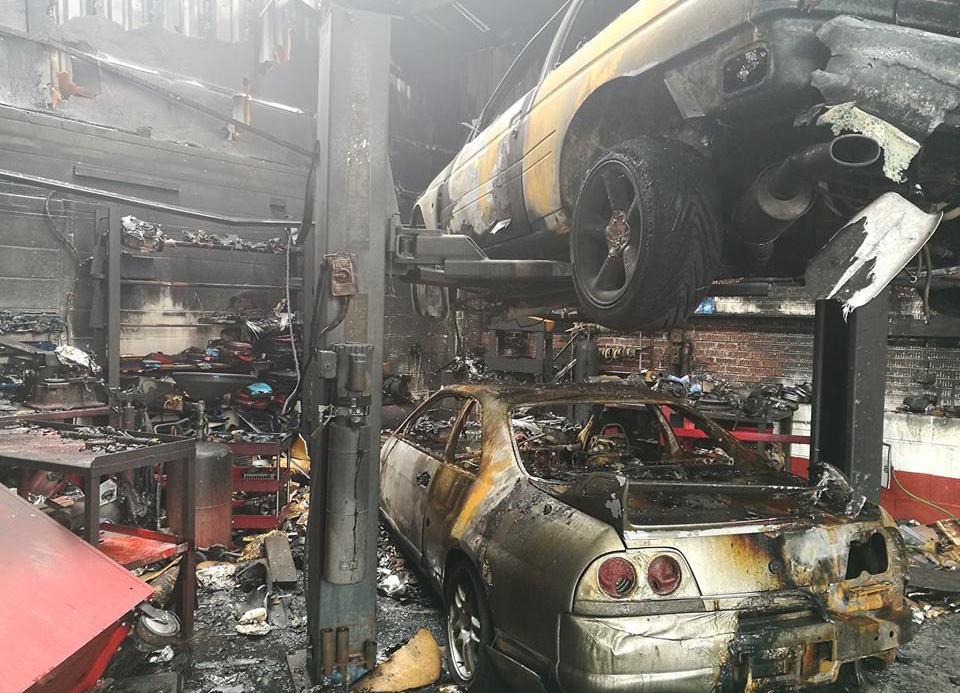 Nissan Skyline Tuning Shop Burns Down 7 Cars Destroyed
