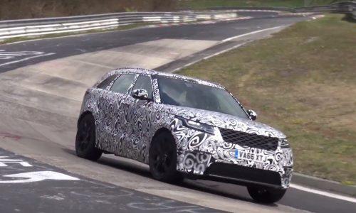 Range Rover Velar V8 'SVR' spotted belting around Nurburgring (video)