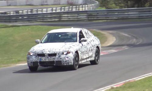 2018 BMW G20 3 Series spied on Nurburgring, electric hybrid? (video)