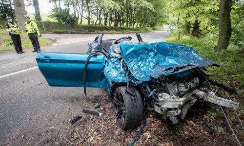 BMW M2 torn apart in serious crash in Scotland (video)
