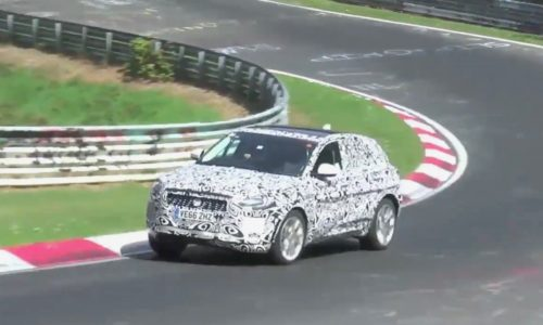 Jaguar E-Pace spotted during torturous Nurburgring test (video)
