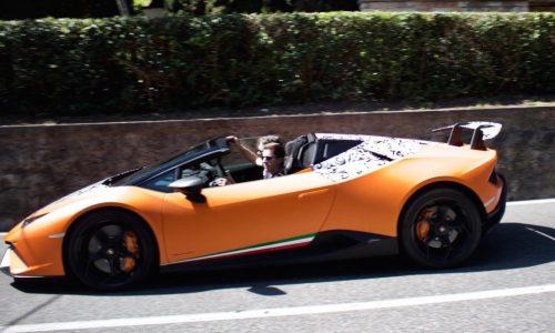 Lamborghini Huracan Performante Spyder spotted