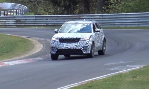 Range Rover Velar V8 'SVR' spotted again (video)