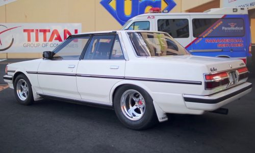 Toyota Cresta with Barra Ford Falcon engine makes awesome sleeper (video)