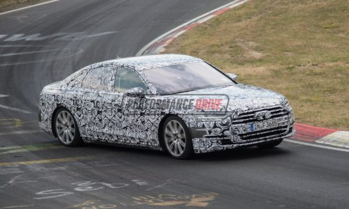 2018 Audi A8 spied pushing hard on Nurburgring, with new S6 (video)