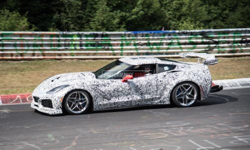 2018 Chevrolet Corvette ZR1 spotted, with (loud) LT5 DOHC V8? (video)