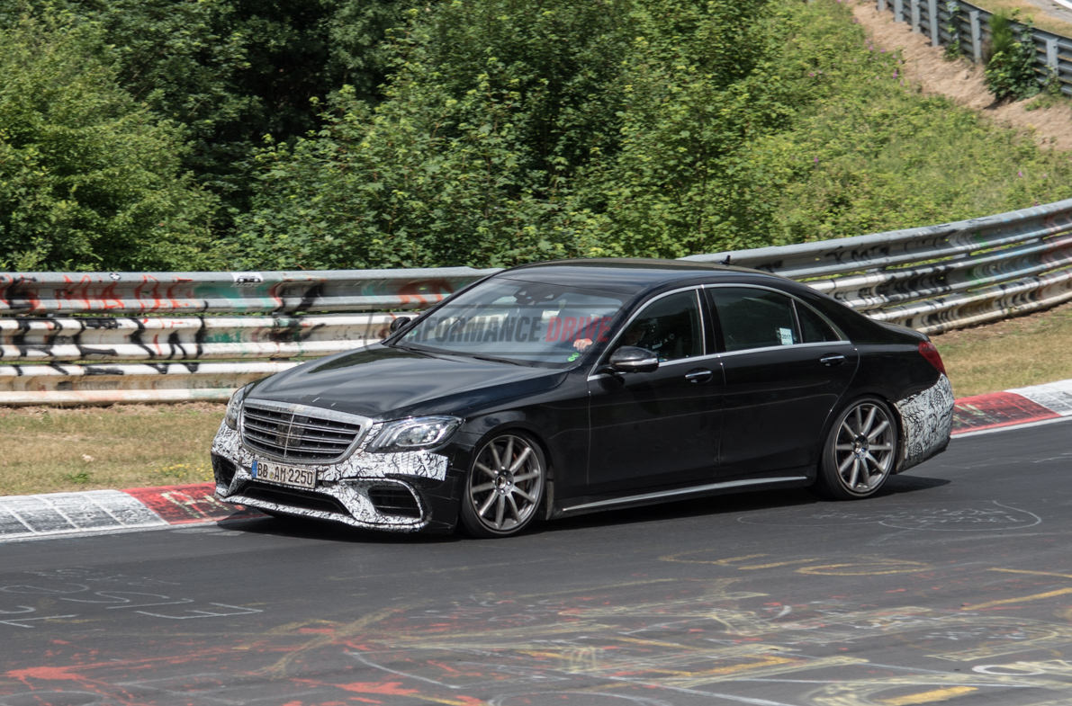 S63 2018 >> 2018 Mercedes-AMG S 63 prototype spied, still testing on Nurburgring (video) | PerformanceDrive