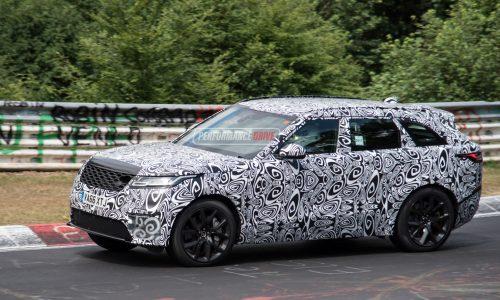 Range Rover Velar 'SVR' V8 spotted at Nurburgring