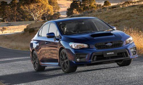 2018 Subaru WRX & WRX STI on sale in Australia, STI spec.R added