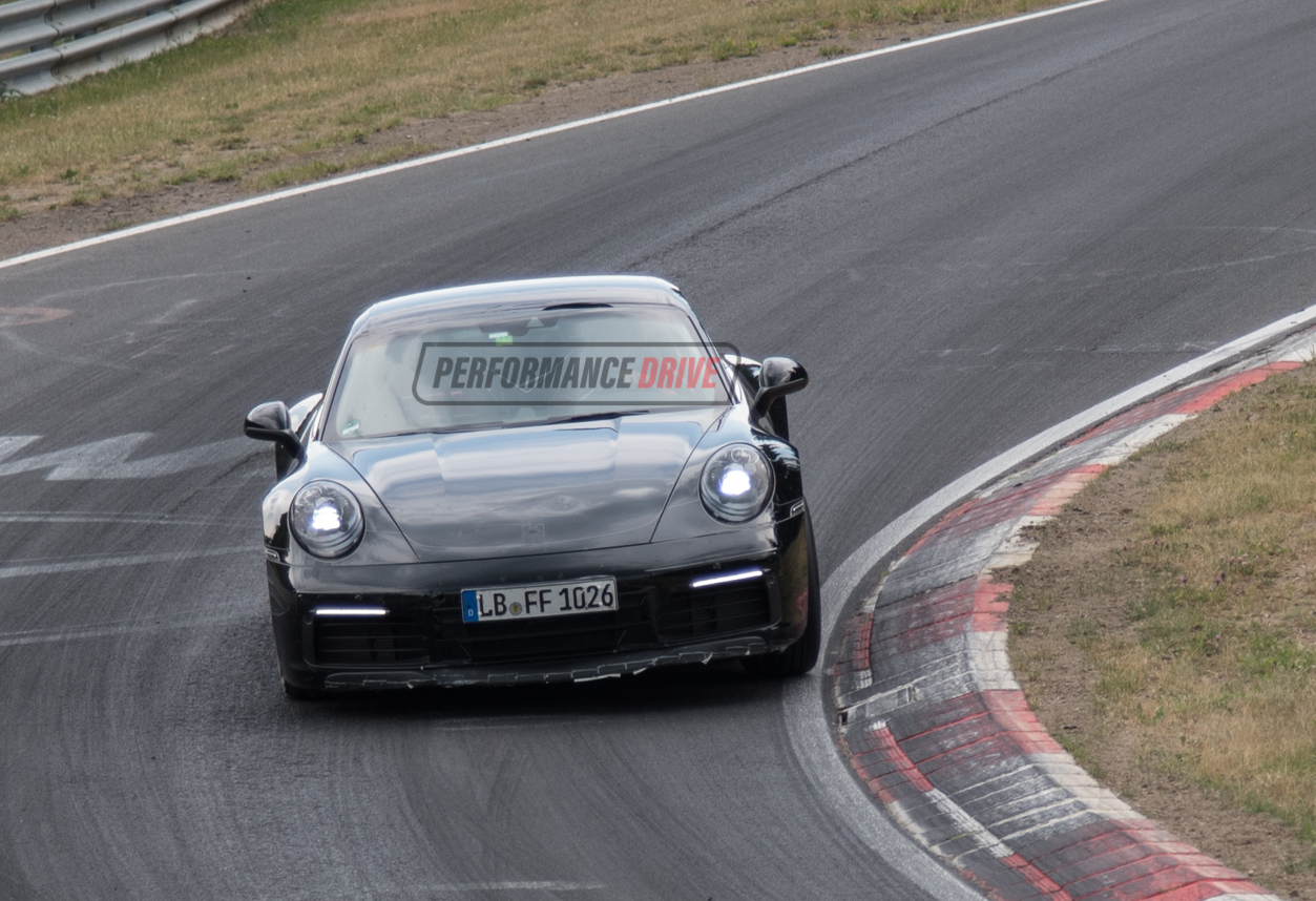 2019 Porsche 911 992 Spotted Gets Wider Rear Wing Quad