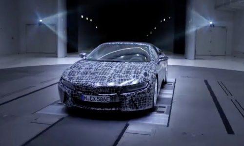 BMW i8 Roadster on sale in 2018, teaser released (video)