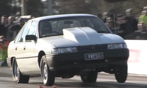 Holden VN Commodore with LSA V8 conversion runs 9s (video)