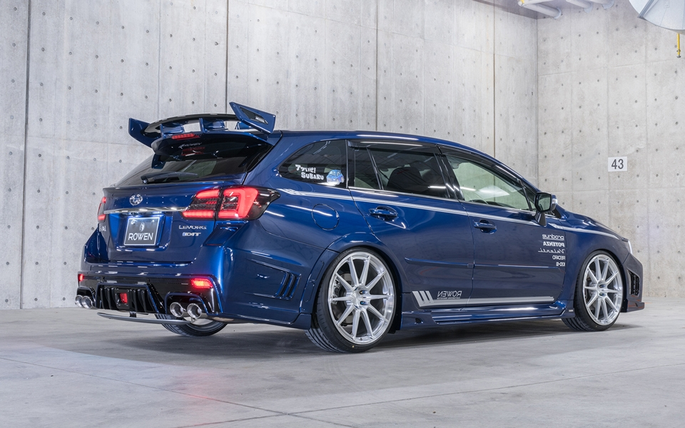Subaru Levorg shows its tuning side with Rowen kit ...