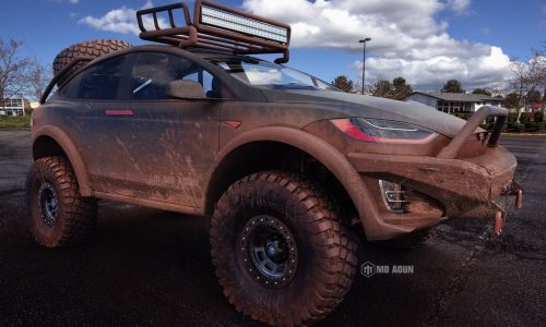 Tesla Model X render shows serious 4×4 potential