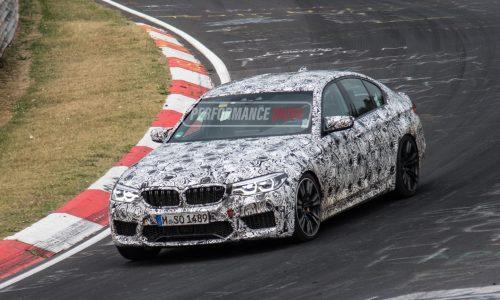 2018 BMW M5 prototypes continue testing at Nurburgring (video)