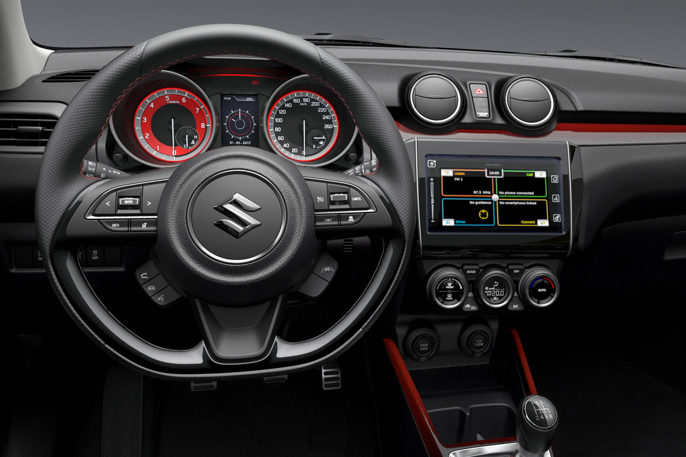 2018 Suzuki Swift Sport interior confirms manual, 1.0T suspected ...