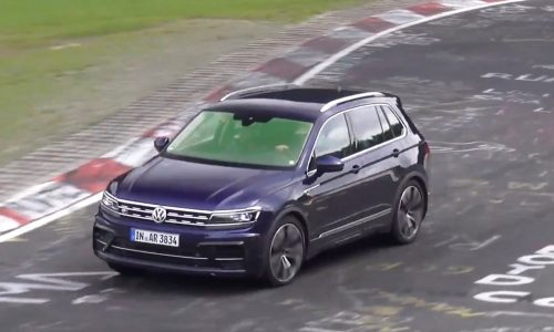 2018 Volkswagen Tiguan R spotted, sounds like 2.5 TFSI 5CYL (video)