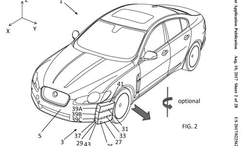 Jaguar Land Rover patents unique aero guide vane system