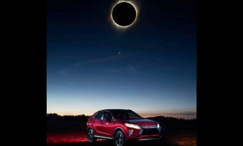 Mitsubishi Eclipse Cross poses with solar eclipse, ultimate PR stunt