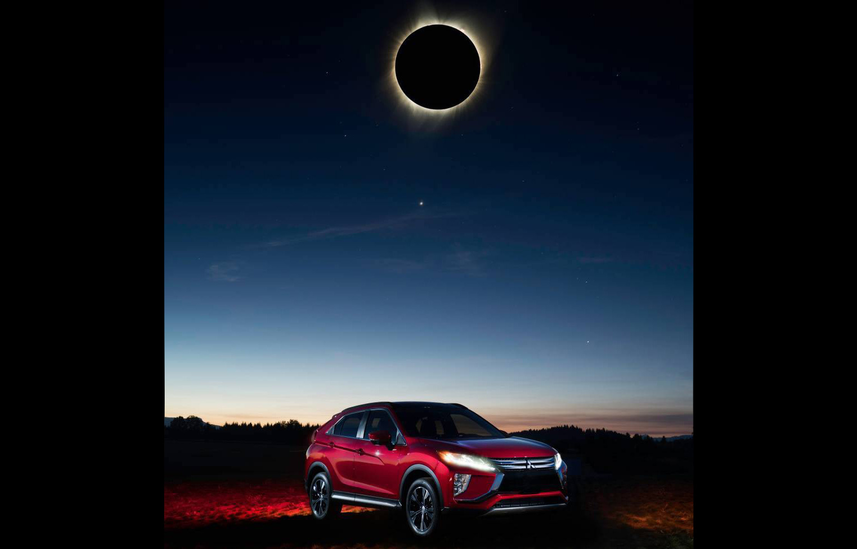 Mitsubishi Eclipse Cross poses with solar eclipse, ultimate PR stunt | PerformanceDrive