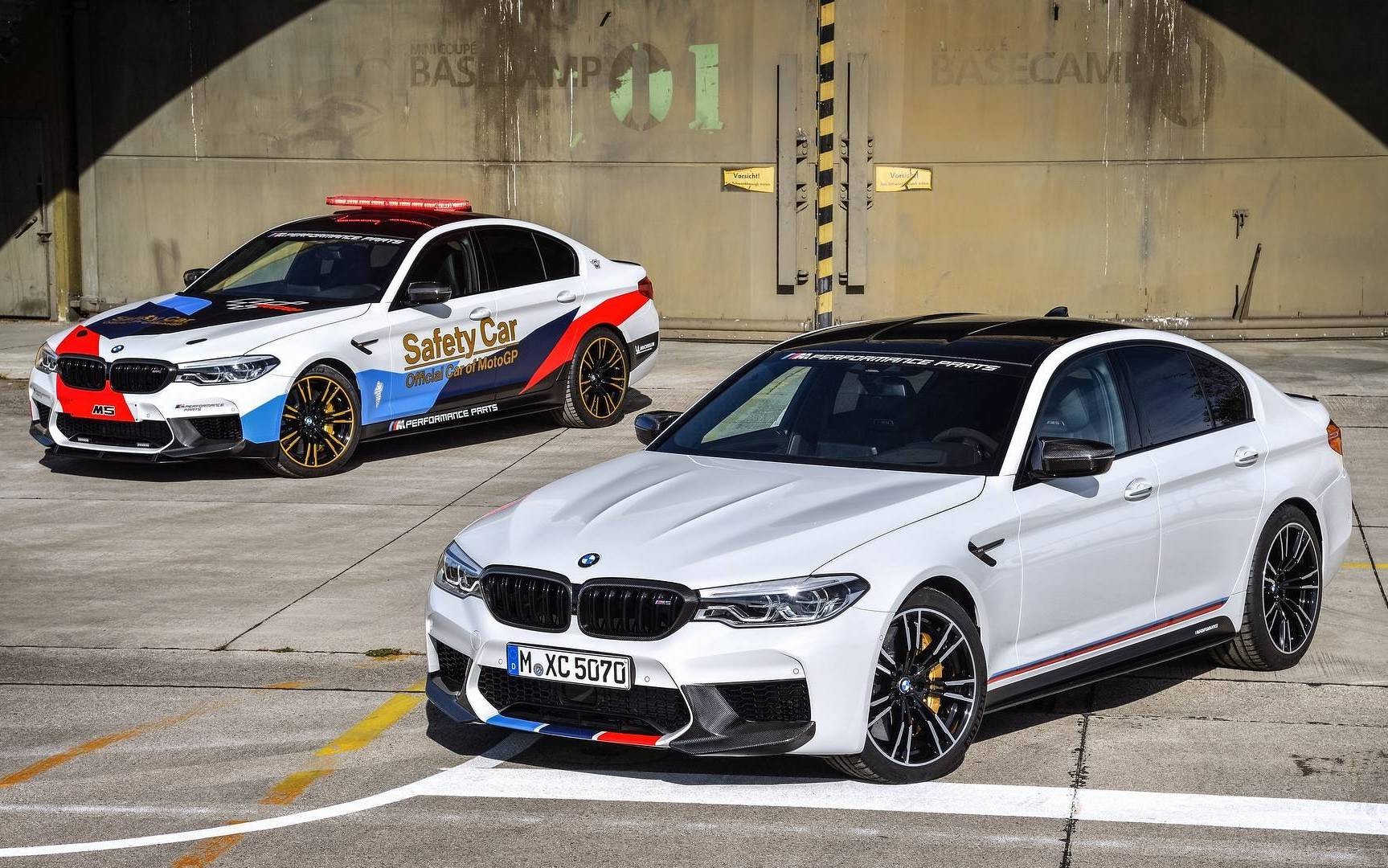 2018 bmw m5 m performance parts revealed with motogp car. Black Bedroom Furniture Sets. Home Design Ideas