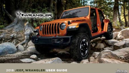 2018 Jeep Wrangler user guide leaked, 2.0L engine confirmed
