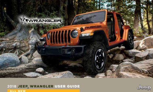 2018 Jeep Wrangler user guide leaked, 2.0L engine confirmed