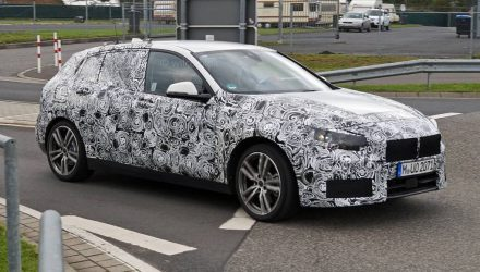 2019 BMW 1 Series spotted with production body, switches to FWD