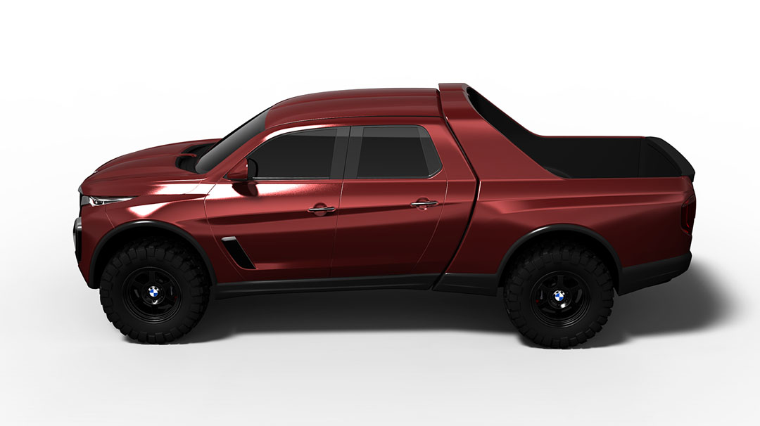 BMW pickup truck / ute rendered, worthy Mercedes X-Class rival? | PerformanceDrive